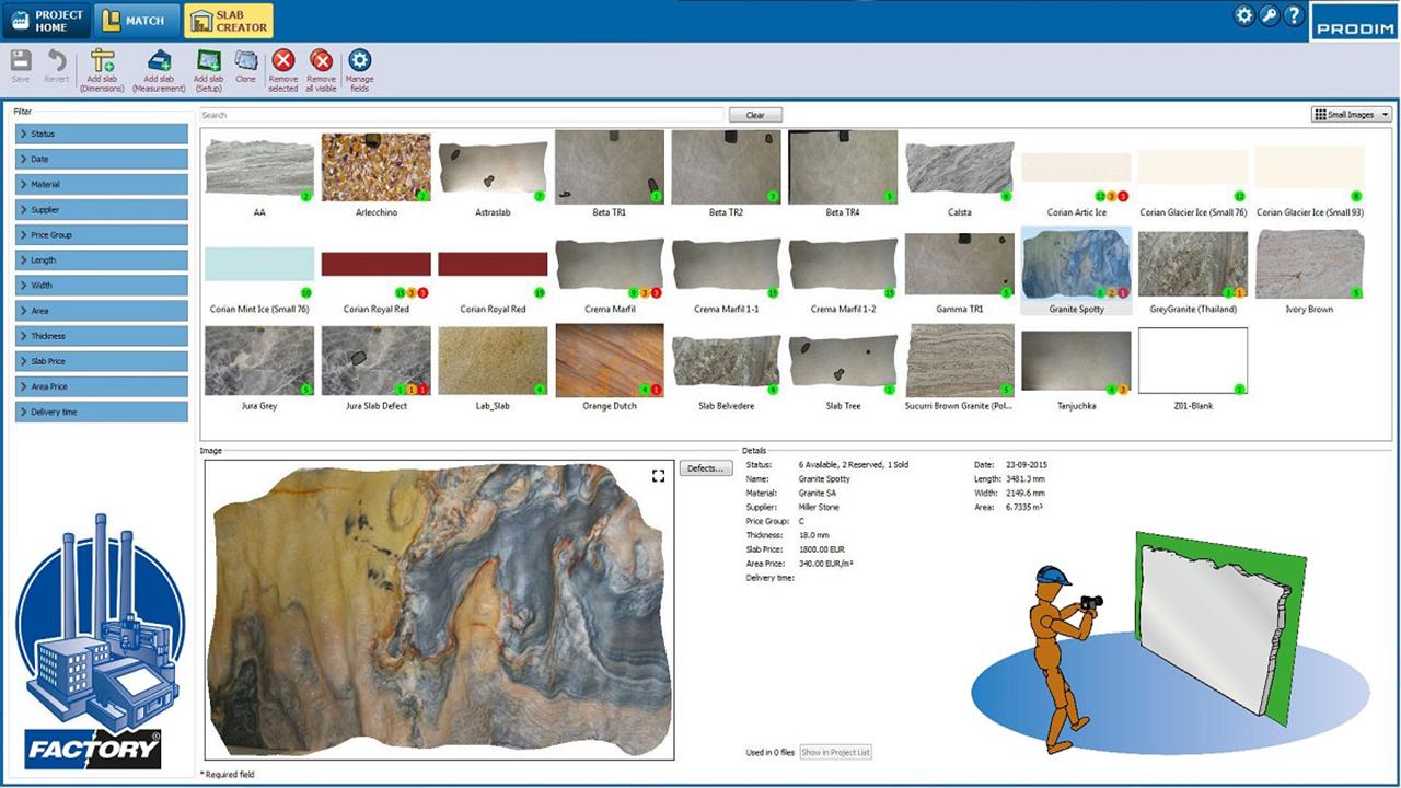 Prodim Factory software
