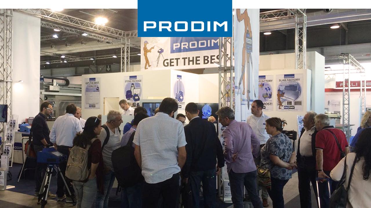 Prodim stand at Marmomacc 2016
