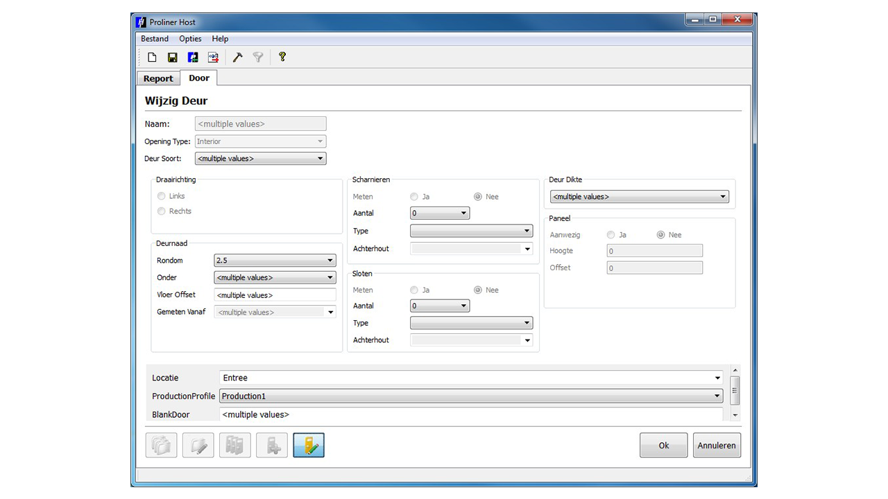 Screenshot - Prodim Proliner Door software