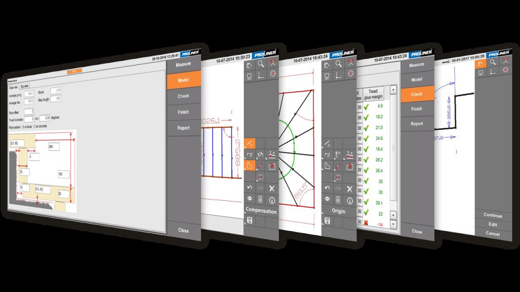 Screenshots - Prodim Proliner Stairs software