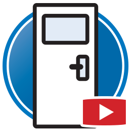 Button to watch Proliner videos of digital templating doors