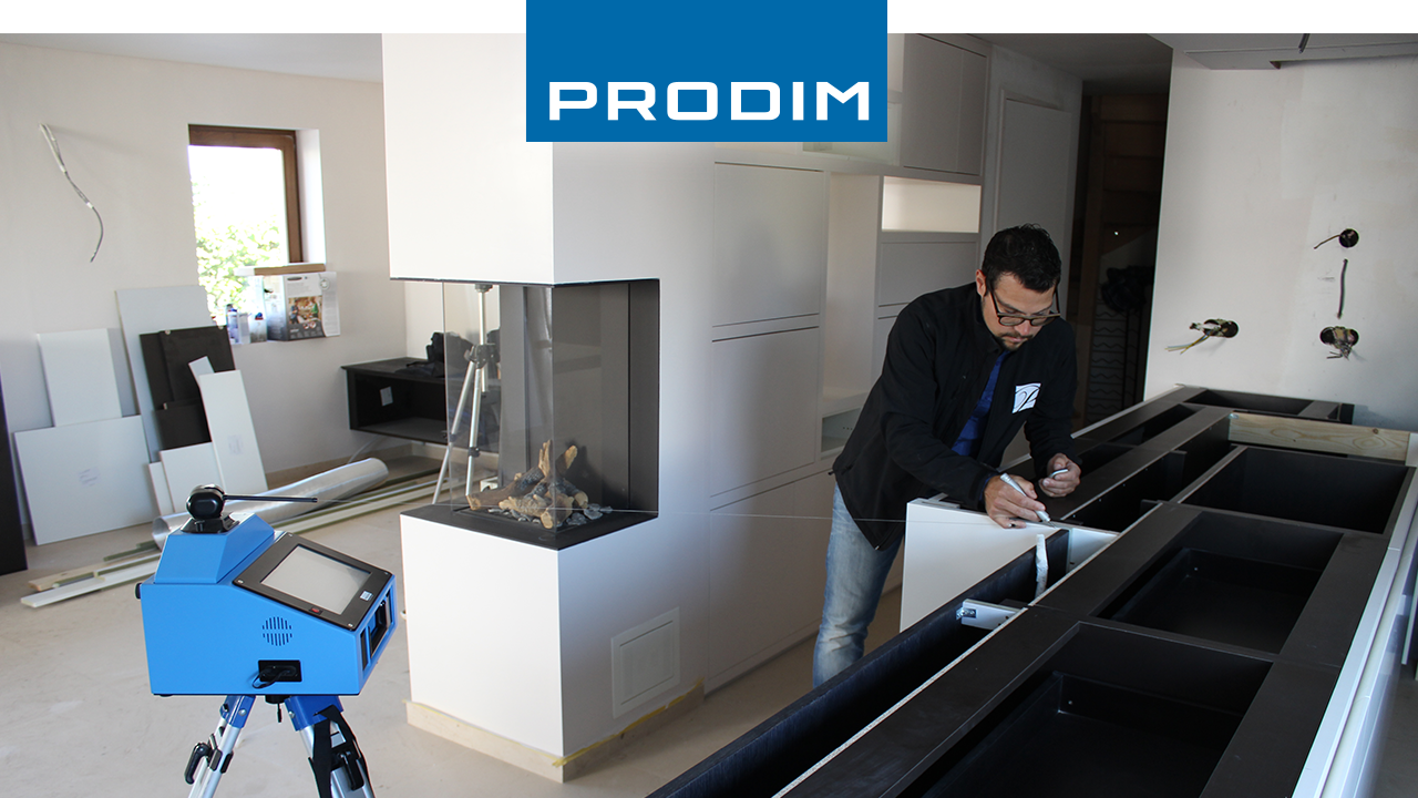 Prodim video digital templating a countertop by Potier Stone
