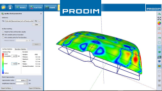 Prodim complete digital templating solutions - Application based industry software - Screenshot of Prodim Bent Glass software