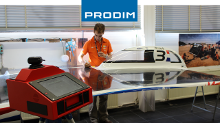 Prodim Proliner digital measuring device - Used for the quality control of Nuna 8, the solar car of Nuon Racing Team