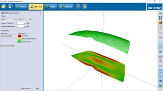 Screenshot - Prodim Bent Glass software - Flatten