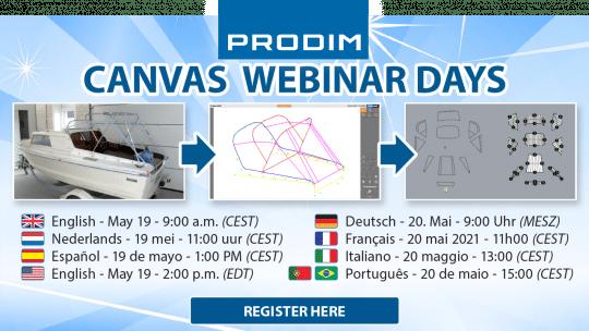 Prodim Canvas Webinar Days - May 2021 - Register now