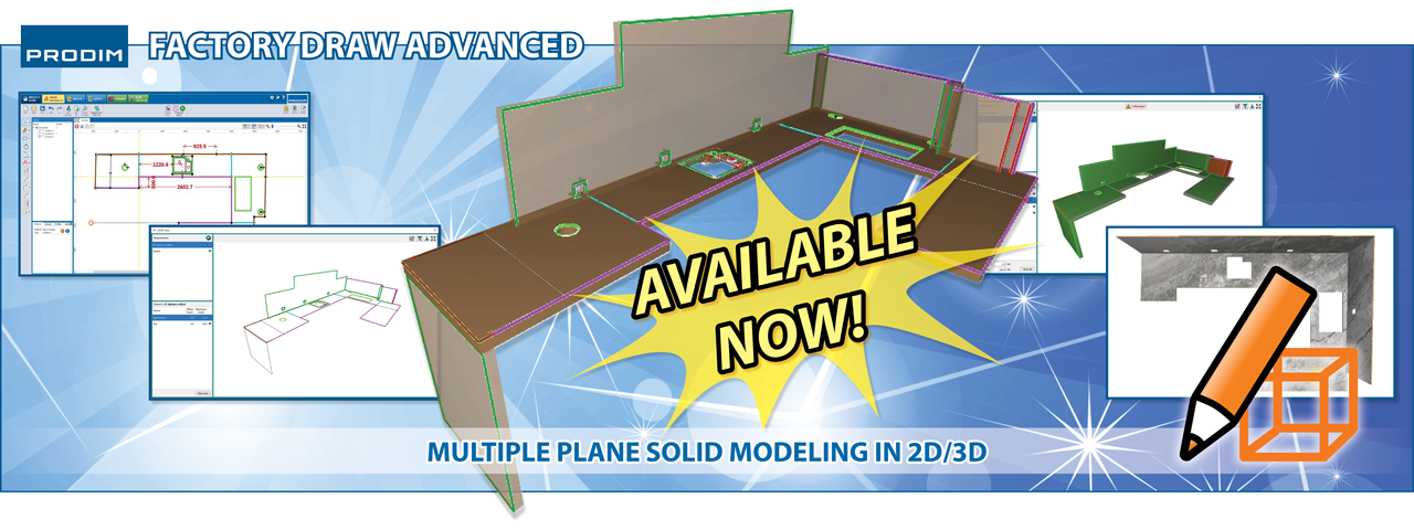 Prodim Factory Draw Advanced - Multiple plane solid modeling in 2D/3D - Watch the video