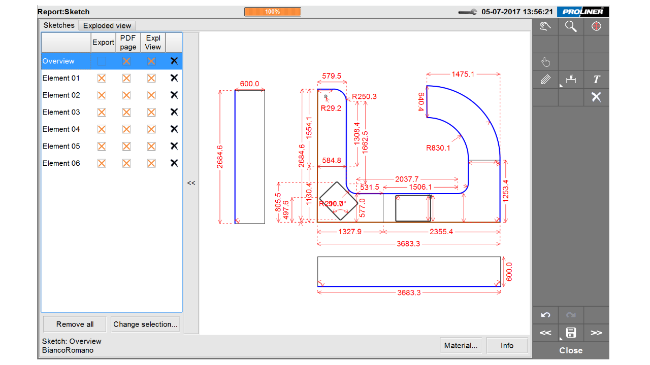 Screenshot - Prodim Factory software – Edit CT