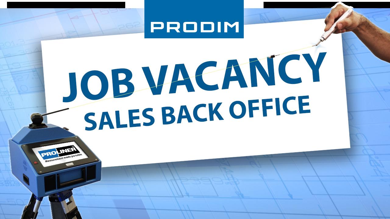 Prodim Job Vacancy - Sales back office