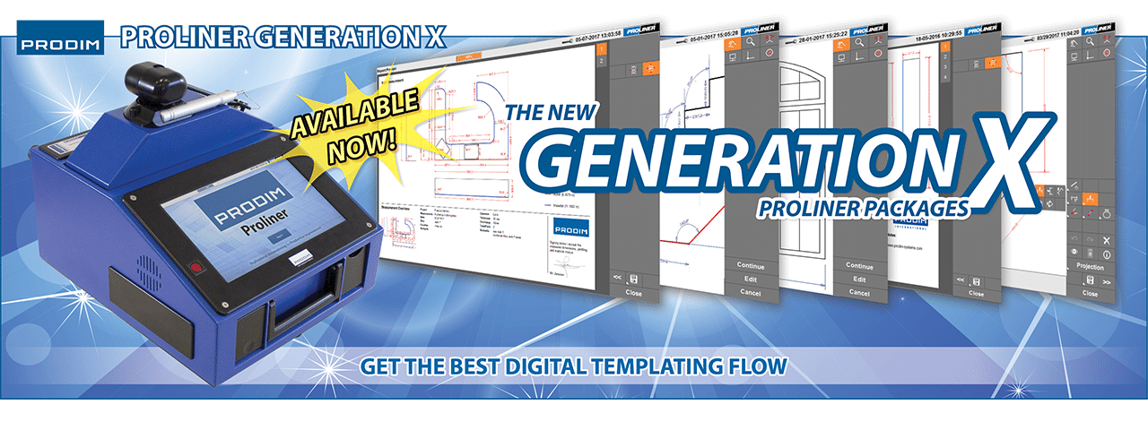 Slider - Prodim Proliner Generation X packages - Get the best digital templating flow