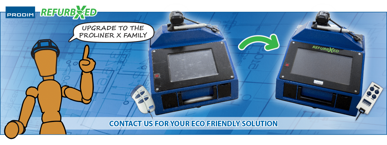 Slider of the Proliner RefurbXed - Contact us for your ECO-friendly solution