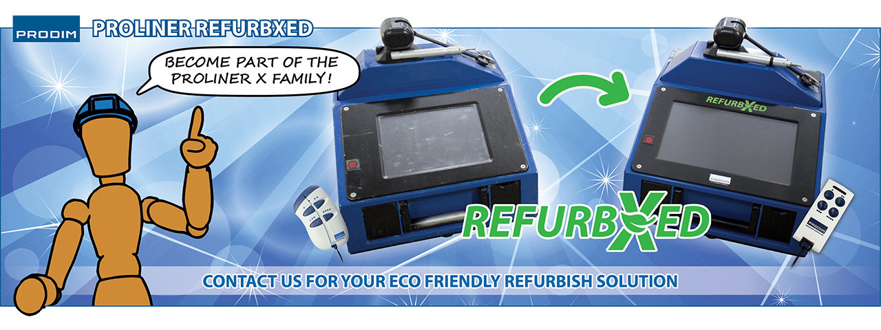 Slider - Prodim Proliner RefurbXed - Become part of the Proliner X family - Contact us for your eco-friendly refurbish solution