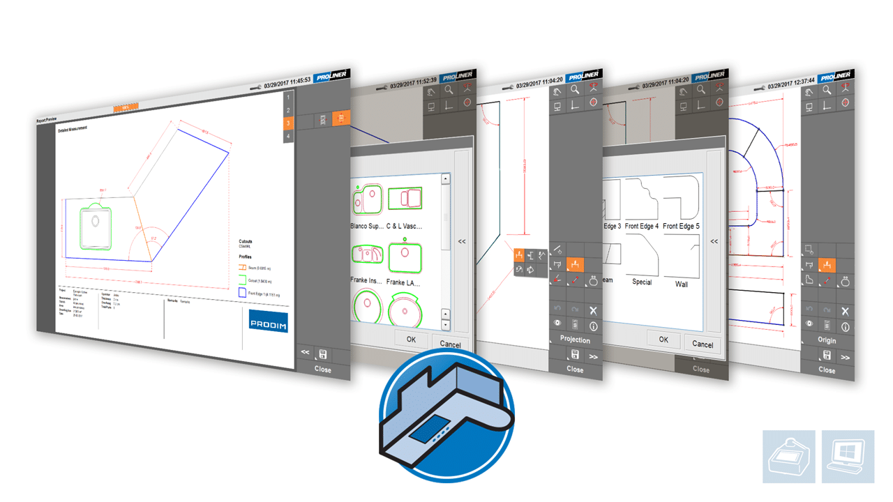 Screenshots - Prodim Proliner software - CT app