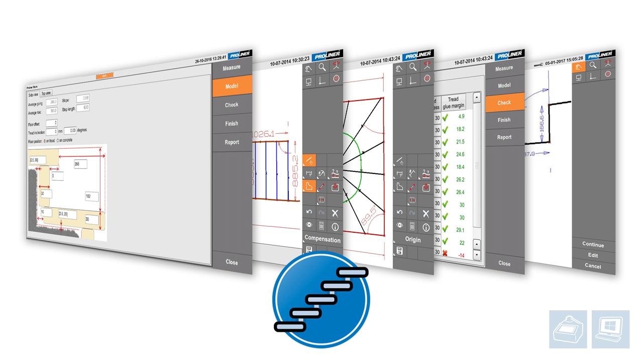 Screenshots - Prodim Proliner software - Stairs app