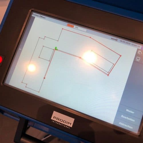 Prodim Proliner user Garas Naturstein Digital Measurement