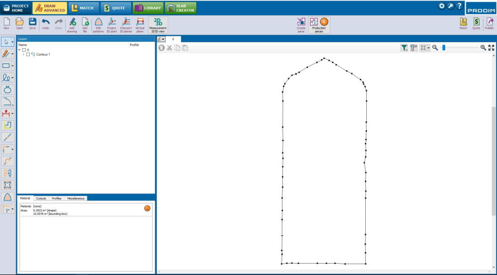 Prodim Proliner user Lowcountry Window and Door - Window measurement screenshot