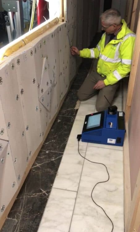 Prodim Proliner user Seabrook - Digital templating Harrods wall - Digital measuring