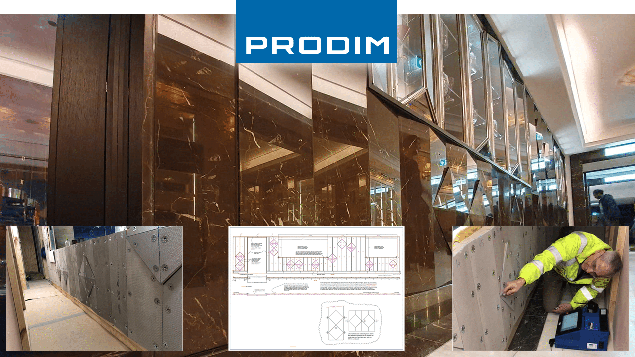 Prodim Proliner user Seabrook - Digital templating the Baccarat Feature Wall at Harrods