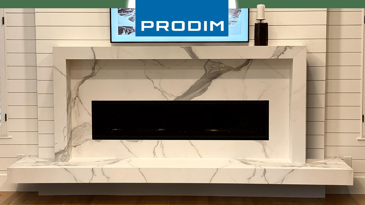 Prodim Proliner user - Stone Distribution Center - Fireplace project