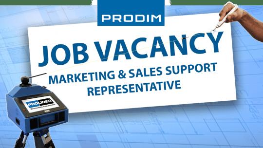 Prodim USA job vacancy - Marketing & Sales Support Representative