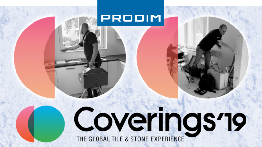 Prodim exhibiting at Coverings 2019