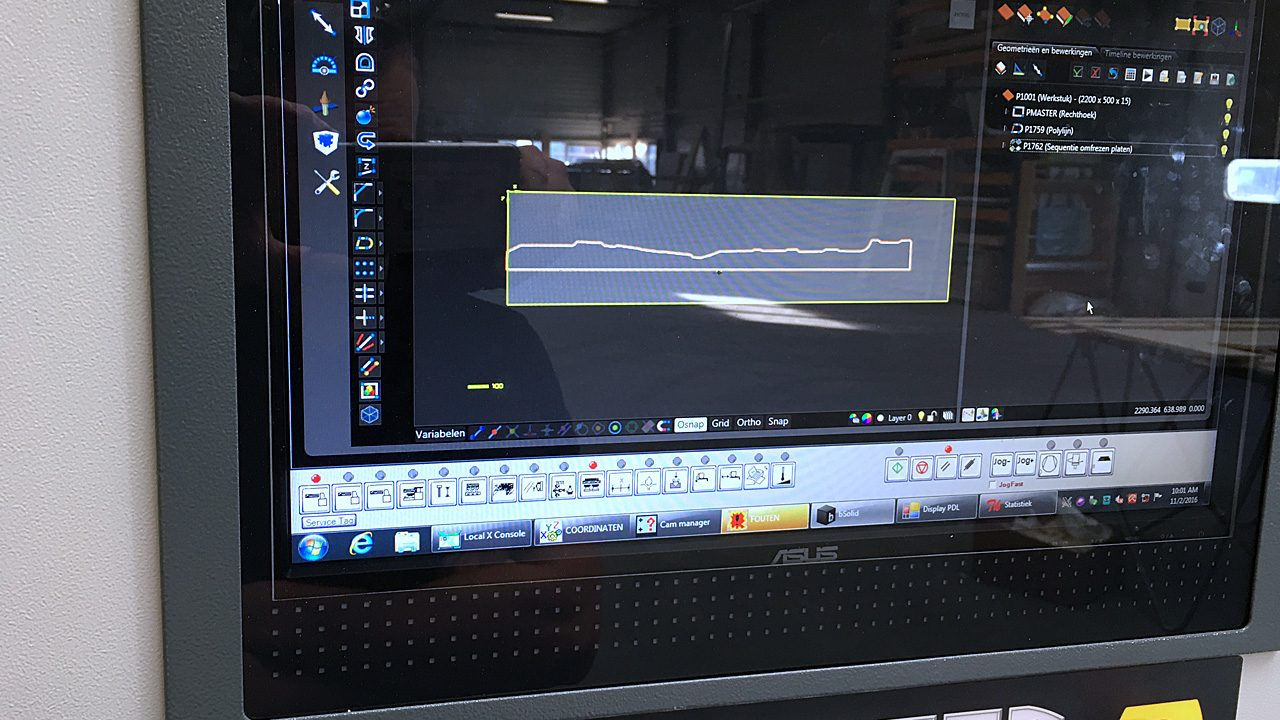 Proliner user Peters Koelwagens - Digital measurement used for CNC production